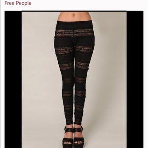 Free People famine Lacey ruffled leggings